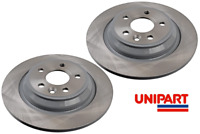 For Volvo - S80 II (124) 2006-On Rear 302mm Brake Discs Unipart