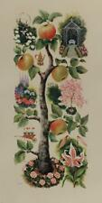 SOPHIE PORTER From Garden and Orchard VINTAGE LITHOGRAPH Botanical #637