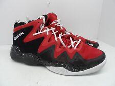Reebok Men's Kamikaze IV M40834 Mid Retro Basketball Shoe Black/Red/White 14M