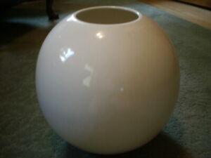 Vintage Haeger Large Round Orb sphere Vase Ivory USA