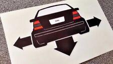 Vw Jetta Bora Down & Out pegatina de vinilo calcomanía Para Ventana coches Laptops Ipad Gti
