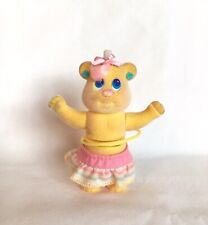 1991 Tyco Bitsy Bears Swivels Bear Hula Hoop Vintage Wind Up Toy Yellow