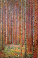 KLIMT - PINE FOREST ART POSTER 24x36 - 3313