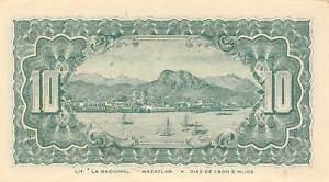 México / Sonora 10 Centavos  3.16.1914 Series D ERROR Uncirculated Banknote FH