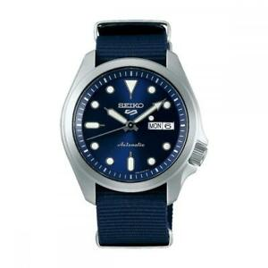 Mens Automatic Wristwatch SEIKO 5 SPORTS SRPE63K1 Fabric Blue Sub 100mt