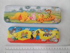 Walt Disney Winnie the Pooh metal pen box,tin pencil case,KNAX cartoon Germany