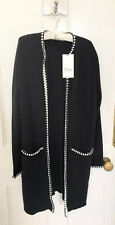 Ladies Zara Knit Coat With Contrasting Stitched Trims Size S BNWT LAST ONE