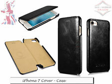 For iPhone 7 - Genuine Leather Handmade Cover Luxury Mobile Phone Case - Black