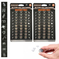 60 Set Assorted Super Alkaline Watch Button Cell Coin Batteries Freshly Made New