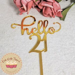New Number Age Cake Topper 16th, 18th, 21st, 25th, 30th, 40th, 50th, 60th,70th