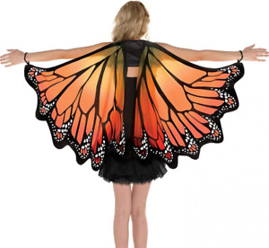 AMSCAN Monarch Butterfly Wings Halloween Costume Accessories for Adults, One...