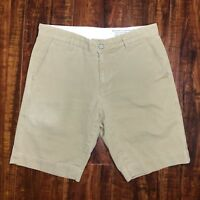 Adriano Goldschmied Men's Standard Issue Relaxed Chino Short Size 29 Khaki Beige