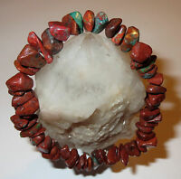 GORGEOUS RARE POWERFUL CRIMSON CUPRITE NATURAL CRYSTAL COURAGE BRACELET
