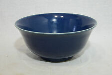 Chinese  Monochrome  Blue  Glaze  Porcelain  Bowl  With  Mark
