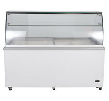 "Chef's Exclusive 71"" Commercial Ice Cream Dipping Cabinet Display Freezer 12 Tub"