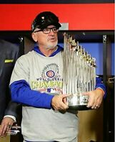 """Joe Maddon Chicago Cubs 2016 World Series Trophy Photo (Size: 8"""" x 10"""")"""