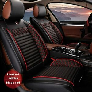 fit for Dodge RAM 1500 Front Car Seat Covers Leatherette Seat cover,black red