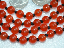 Red Jade Hand Knotted 108+1 Jaap Mala Beads Necklace - Energized