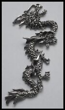 PEWTER CHARM #1198 DRAGON 2 BAIL JOINER (78mm x 32mm)