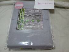 New Tranquil Living 100% Rayon From Bamboo 2 Standard Pillowcases ~ Light Gray