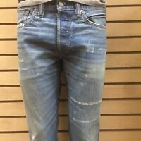 RRL double rl new SLIM NARROW DISTRESSED JEANS  Kentucky wash salvaged run small
