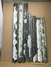 """7pc Lot 48"""" x 4"""" Rounded Molding Antique Ceiling Tin Vintage Reclaim Salvage"""