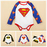 Newborn Infant Baby Boy Girl Kids Romper Jumpsuit Bodysuit Clothes Outfits 0-2Y