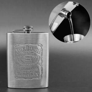 Flachmann Jack Daniels Edelstahl 7oz 207 ml