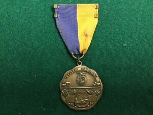 Vintage 1960 FFA State Award Medal  Future Farmers Of America Engraved