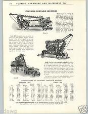 1926 PAPER AD Universal Portable Stone Gravel Crusher Cedar Rapids Iowa USA
