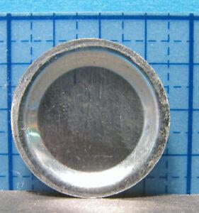 """Mini Metal Pie Pan  7/8"""" D. 1:12 dollhouse kitchen -Falcon Minis"""