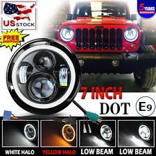 "7"" Round Projector LED Headlight for Wrangler Custom Unlimited Sport Utility"
