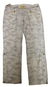 Bogner Franzi 2 Women's Ski Pants White Grey Golden Size 40 ML, 42 L New