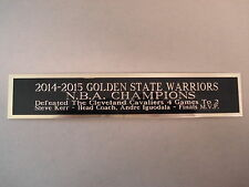2014-15 Golden State Warriors Nameplate For A Signed Basketball / Photo 1.25 X 6