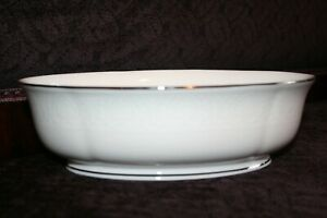 Lenox HANNAH PLATINUM Oval Serving Bowl 9.75 Inch NEW with Tag No Reserve