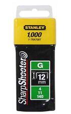 STANLEY Tackerklammern Typ G (1000 Stück) 12mm TRA708T Heftklammer