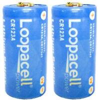 2 Loopacell Lithium CR123A 3V Photo Lithium Batteries