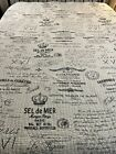 All Things Paris double sided Cotton Quilt  Ivory Black 90x89 queen #442
