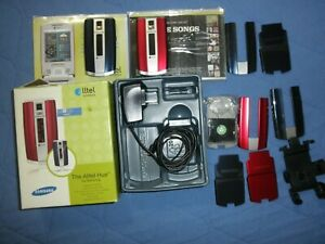 Samsung Sch-r500 Alltel Flip Cell Phones with many accessories, some NEW.