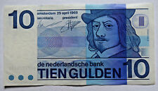 Netherlands: 10 Gulden banknote since 25 April 1968 in AUNC Condition. NLG