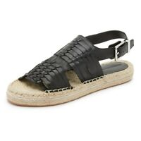 62d076ed5ab Rebecca Minkoff Gabriel Black Leather Espadrille Sandal Women s Size 8