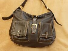 Jane Shilton Pebble Grain Brown Leather Shoulder Bag
