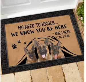 Personalized Dog Saying Doormat Pet Lover Entrance Porch Mat Housewarming Mat