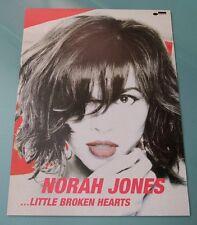 NORAH JONES - Little broken hearts /  OFFICIAL POSTER *HARD TUBE CASE*  KOREA