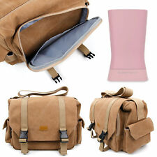 Tan-Brown Large Canvas Carry Bag for SuperTooth Disco 2 / 3 Portable Speaker