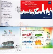 2010 Hong Kong Collection Of 13 First Day Covers Bureau Hand Stamp FDC