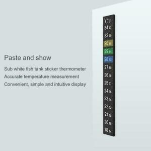 Aquarium Fish Tank Flat Thermometer Temp Adhesive Sticker Digital on Stick V9Q0