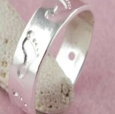 Prints Toe Ring New listing Silver Foot