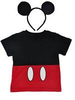 Toddler Boys Mickey Mouse Halloween Costume T-Shirt & Ears Headband 2-Piece Set
