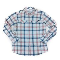 Columbia Men's Long Sleeve Plaid Vented Nylon Outdoor Shirt Size: Large